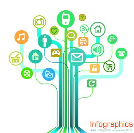 multimedia background: Multimedia illustration Graph Design, infographics