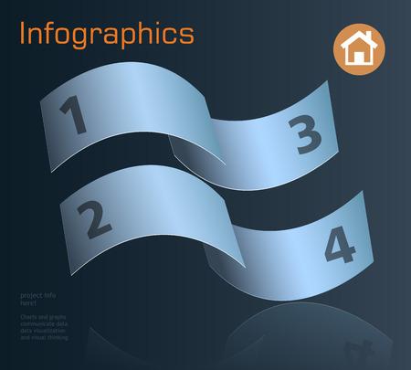phonographic: Graph Design, infographics Vector Illustration