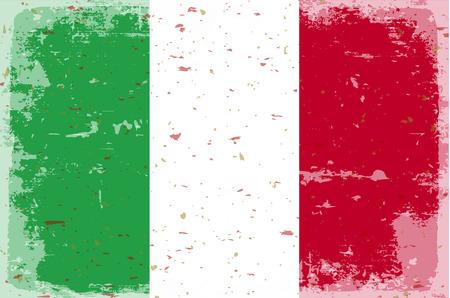flagge auf land italien: Flagge Italien