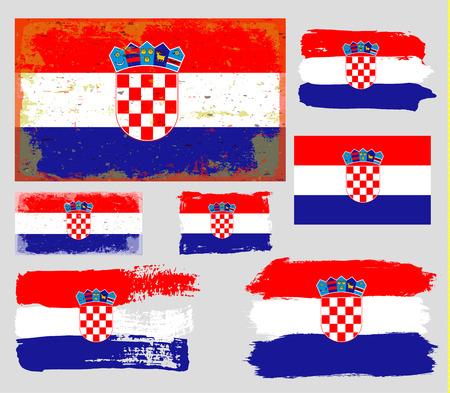 croatia: Flag of Croatia Illustration