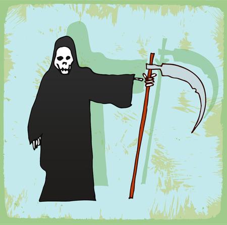 grim: halloween cartoon grim Illustration