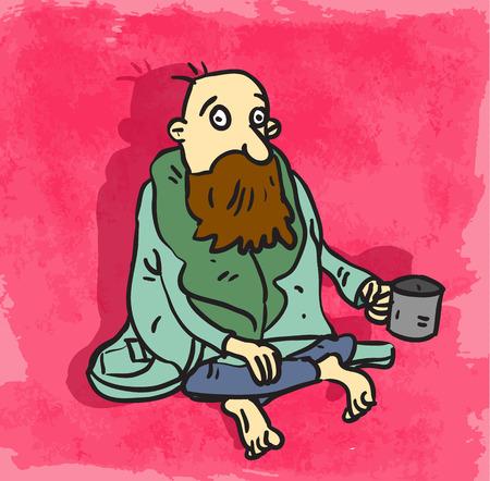 poor: Cartoon poor illustration