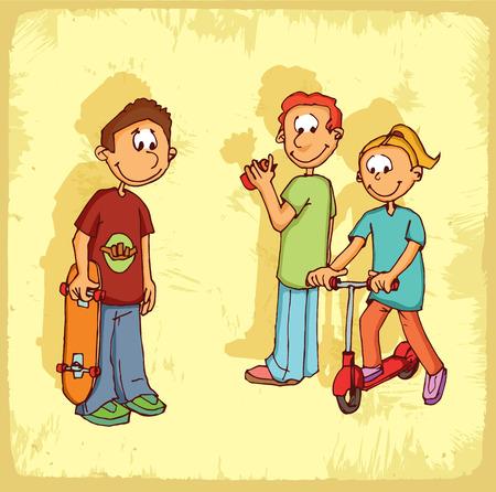 Школа: Мультфильм спортивная школа иллюстрация