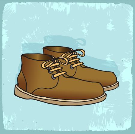 zapatos caricatura: zapatos viejos ilustración