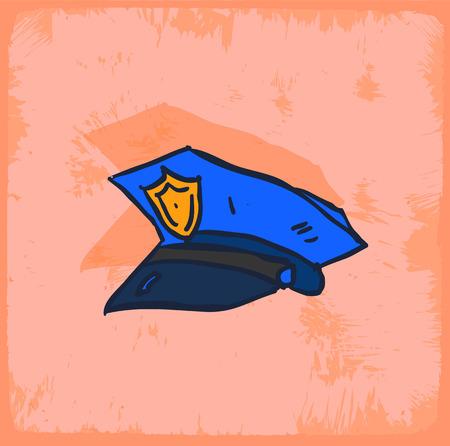 policia caricatura: policía sombrero ilustración