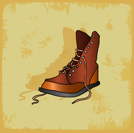zapatos caricatura: Zapatos de dibujos animados ilustración