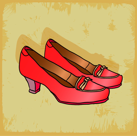 zapatos caricatura: Zapatos de dibujos animados ilustraci�n