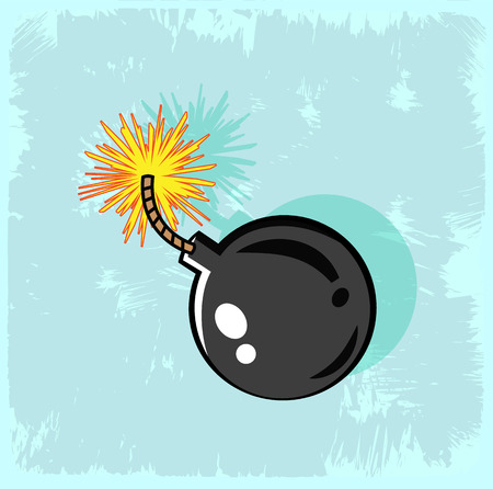 cartoon bomb: Cartoon bomb illustration