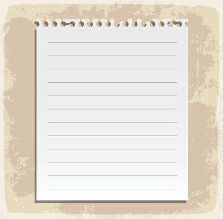 Kolekcja arkusz papieru