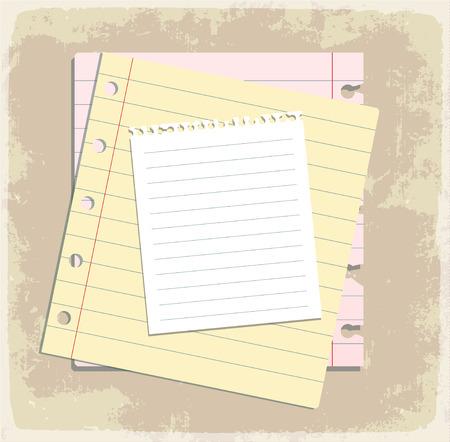 spiral binding: paper sheet collection