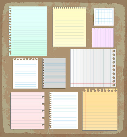 paper sheet collection Stock Vector - 43438439