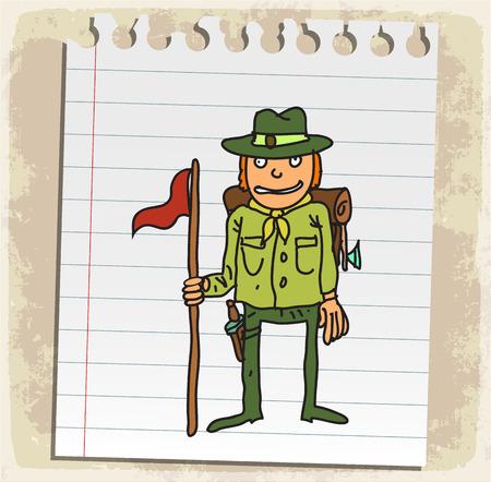 scout: Cartoon scout illustration