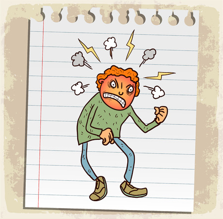 rage: Cartoon rage illustration