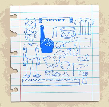 kickoff: soccer doodle