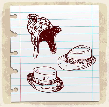 cartoon hat: Cartoon hat illustration Illustration