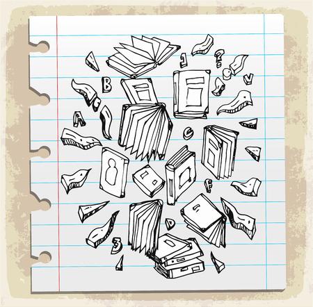 bookshop: book doodle