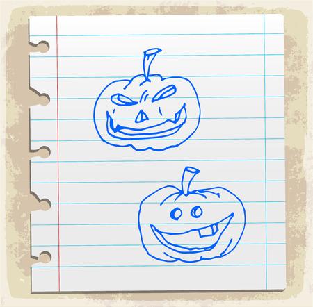calabaza caricatura: calabaza de Halloween de dibujos animados