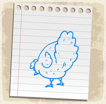 spiral binding: cartoon chicken illustration Illustration