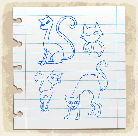 scribbling: halloween cat Illustration