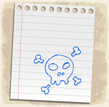 scribbling: halloween cartoon skull