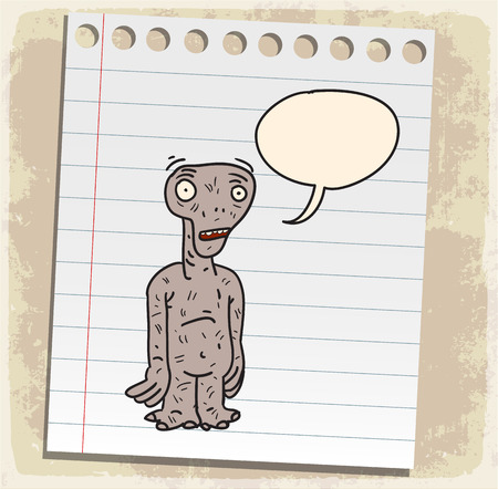 cartoon alien: Criatura alien�gena de dibujos animados