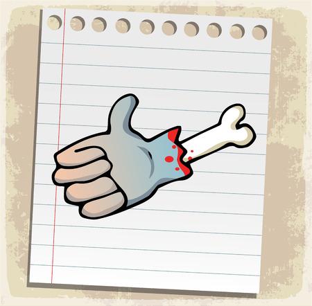 symbol hand: halloween symbol Hand