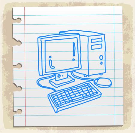 spiral binding: Cartoon computer illustration Illustration