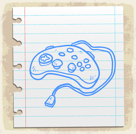 pad: Cartoon game pad illustration