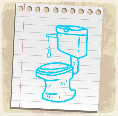 washroom: Cartoon washroom illustration
