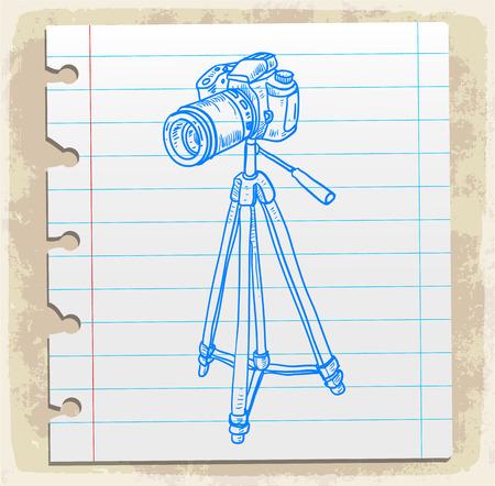 study icon: Cartoon old camera, illustration