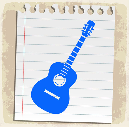 scribbling: classic guitar  illustration
