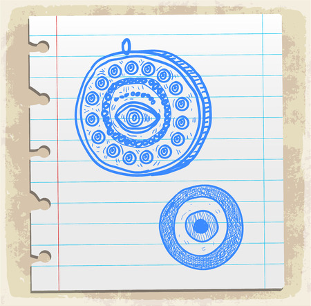 spiral binding: Cartoon lucky charm illustration