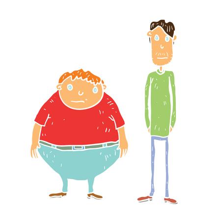 Cartoon weight illustration Illustration
