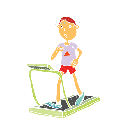 Cartoon sport gym illustration