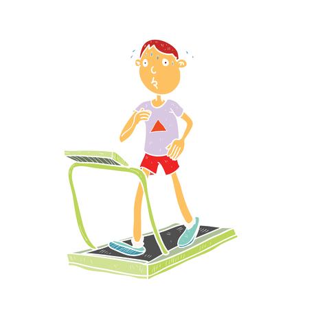 deportes caricatura: Ilustración de gimnasio de deporte de dibujos animados