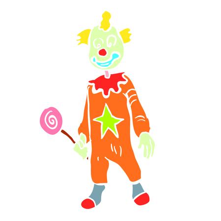 payasos caricatura: Cartoon clown illustration Vectores