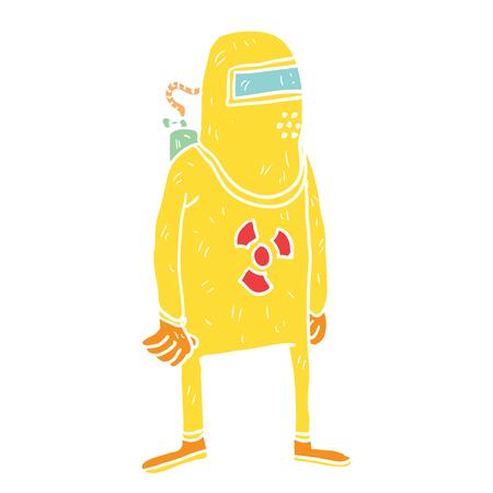 Cartoon radiation illustration Illustration