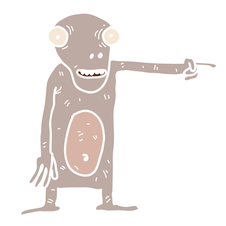 roswell: Cartoon alien creature