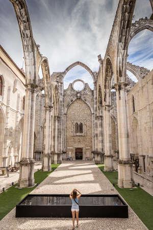 Carmo Convent, Lisbon. Portugal.