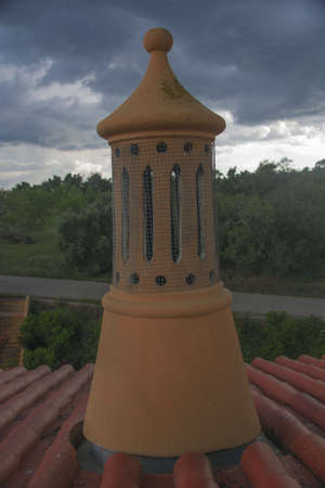 almost all: Traditional Algarve chimney, formerly found in almost all the roofs of the houses in the Algarve, today there are few homes that have this type of chimney