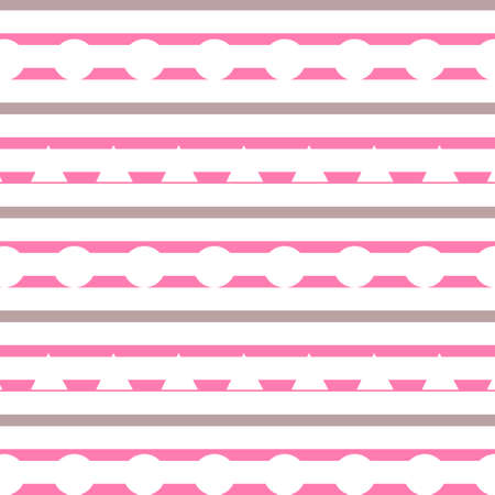 Horizontal colorful stripes with circles and triangles background. abstract design for wrapper, gift, fashion, paper texture illustration
