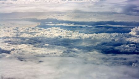 Fantastic clouds, made from airplane