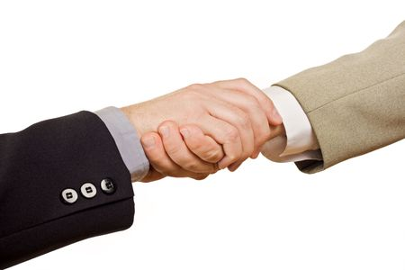 Business people shaking hands - isolated