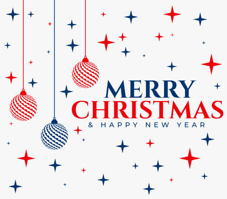 Merry Christmas card. Vector Illustration. Christmas and New Year Typographical
