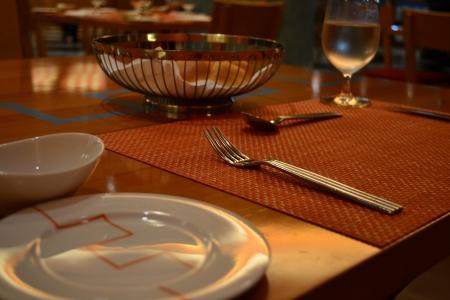 restaurante italiano: Tabla ajuste en el restaurante italiano