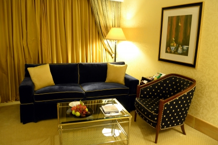 sitting area: Sitting area in hotel room with couch