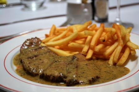 frites: Steak frites  steak and fries