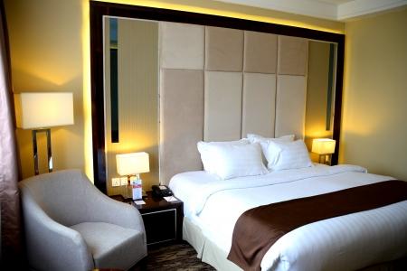 Beautiful luxury bedroom in condominium or hotel