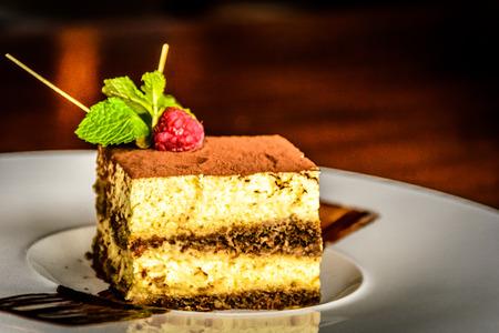 epicurean: Mascarpone Cheese Tiramisu Cake With Espresso Coffee, Biscuits and Cacao