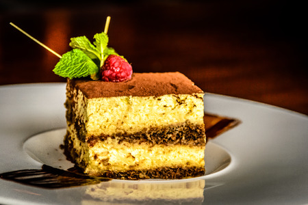 epicurean: Mascarpone Cheese Tiramisu Cake With Espresso Coffee, Biscuits and Cacao